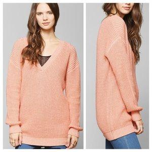 {Cooperative} Oversized V-Neck Sweater